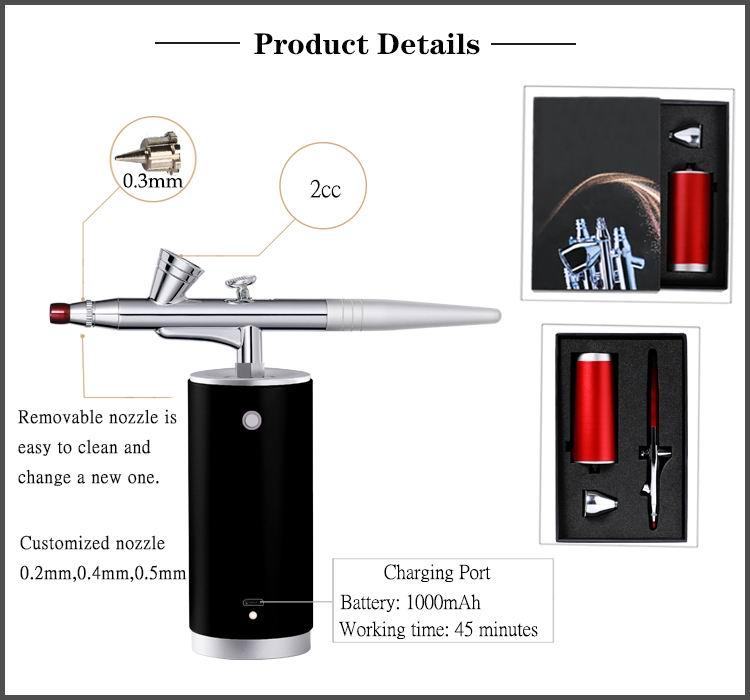 SAGUD electric hand makeup cordless airbrush machine nails air brush compressor