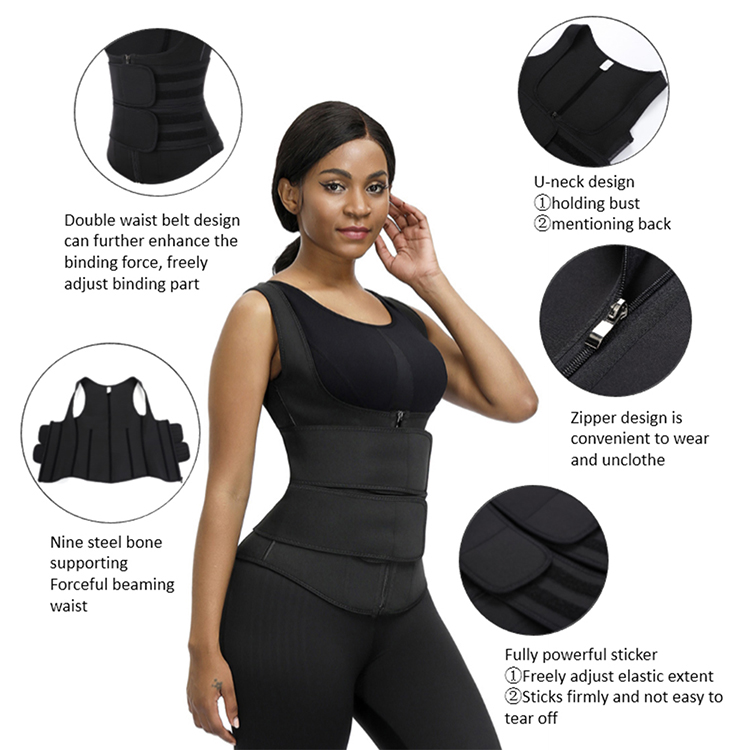Wholesale Oem And Odm Custom Own Private Label Waist Tummy Control Corset Latex Waist Trainer Vest Shaper
