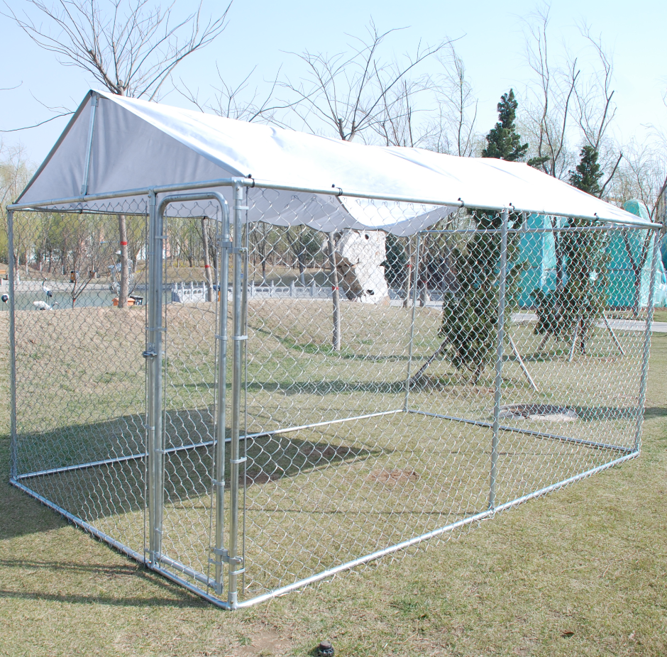 Logam Panjang Atap Welded Mesh Dog Panel Kennel