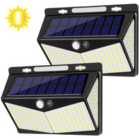 208 LED 3 Modes 270 Degree Wide Angle Solar PIR Motion Sensor solar garden lamp IP65 Waterproof outdoor wall light