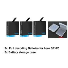 Полностью декодирующий аккумулятор TELESIN для Gopro 8, 7, 6, 5, зарядное устройство для экшн-камеры go pro hero 8, 5, 6, 7, hero8(Китай)