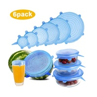 Silicone Stretch Covers to Keep Food Fresh, Fit Various Sizes and Shapes of Containers Food Covers or Bowl Covers,6 Sizes