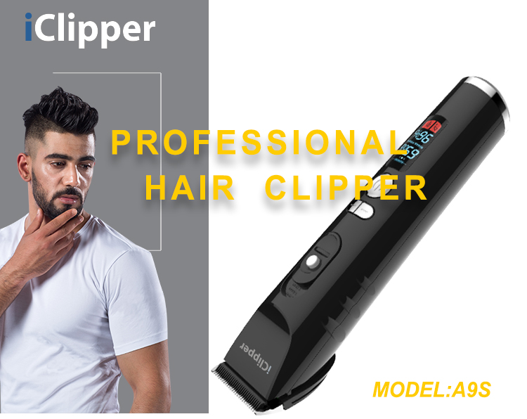 iClipper-A9s AC Rechargeable Adapter For Hair Clipper Adjustable Hair Cutting Machine Mens hair trimmer