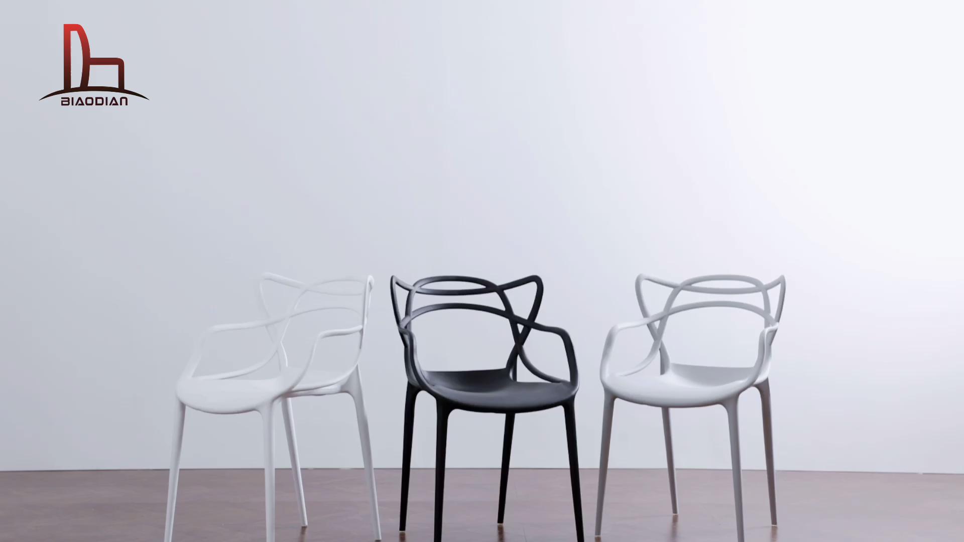 رخيصة أثاث غرفة الطعام تكويم البلاستيك كرسي طعام حديث
