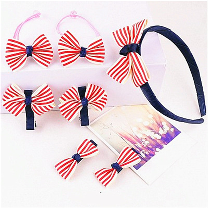 New Style Cute Baby Bow Hair Band Fashion Hair Clip Headband Set  Factory Wholesale