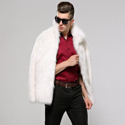 2019 Winter Mens Faux Fur  Coat Men Long Jacket Fur Men Coat