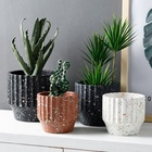 Decorative Cement flower pot round simple personality matt blasting Nordic indoor and outdoor concrete plant pot