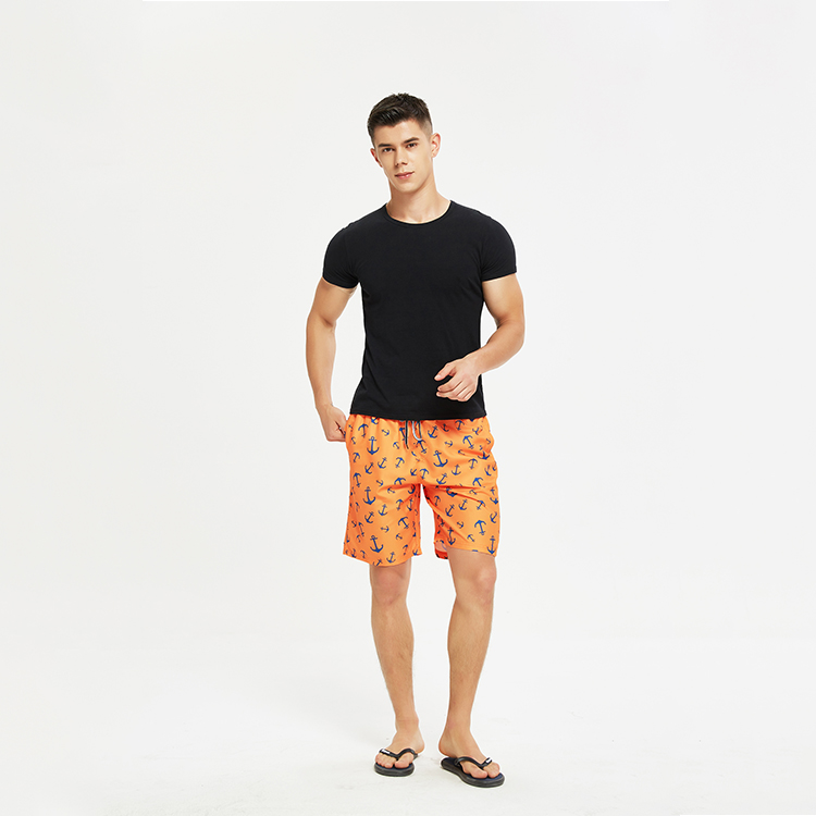 Women and Men Swimming Wear Beach Surf Quick Dry Print Couple Swimming Shorts