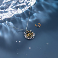 High Quality Professional pendant 925 sterling silver star moon necklace