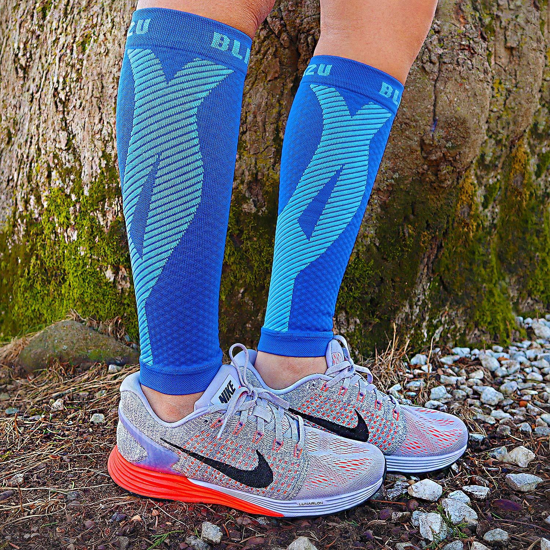 Frauen Männer Outdoor Sport Atmungsaktives Compression Bein Hülse Für Lauf