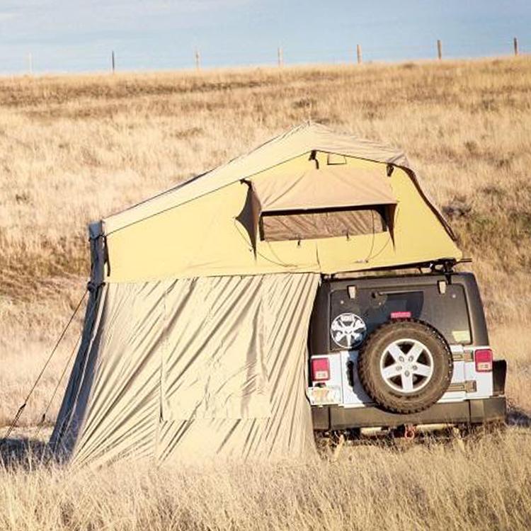 wholesale outdoor waterproof cheap fiberglass folding car roof top tent annex room