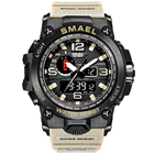 latest patient design 1545D outdoor waterproof dual time mens digital sport watch
