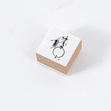 Винтажная жестовая печать для девочек, стандартная марка, канцелярский журнал, цветы, деревянный штамп, сделай сам, штампы для скрапбукинга(Китай)