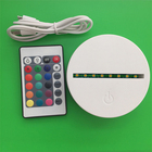 ABS 7 Touch Control Remote Control 3D LED Lamp Base Night Light