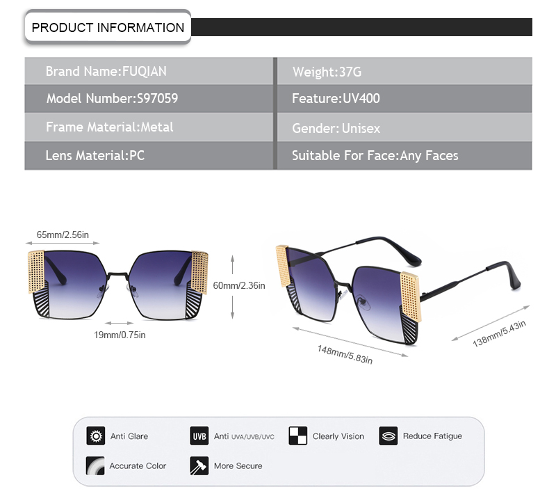 Fuqian New sunglasses for women with price Suppliers for sport-11