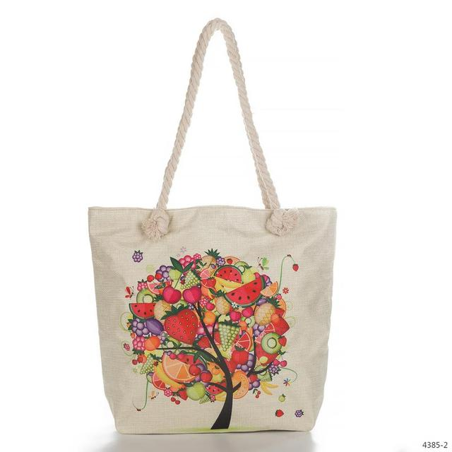 Promotional custom printed organic produce tote bag cotton wholesale