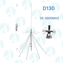 (25-1300 MHz) Discone <span class=keywords><strong>Antena</strong></span> Base de Banda Larga