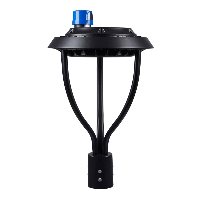 100w 150w 200w post top mount type V distribution illumination LED Garden light with extruded aluminum support arms