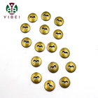Button Garment Large Stock Bronze Color 20L Zink Alloy Metal Bifacial Button For Garment Clothing
