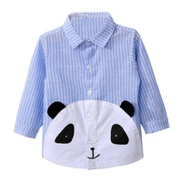 ChengXi Boy T Shirt Baby Clothes Children Long Sleeve Tshirts Pink & Sky Blue Panda Tshirt