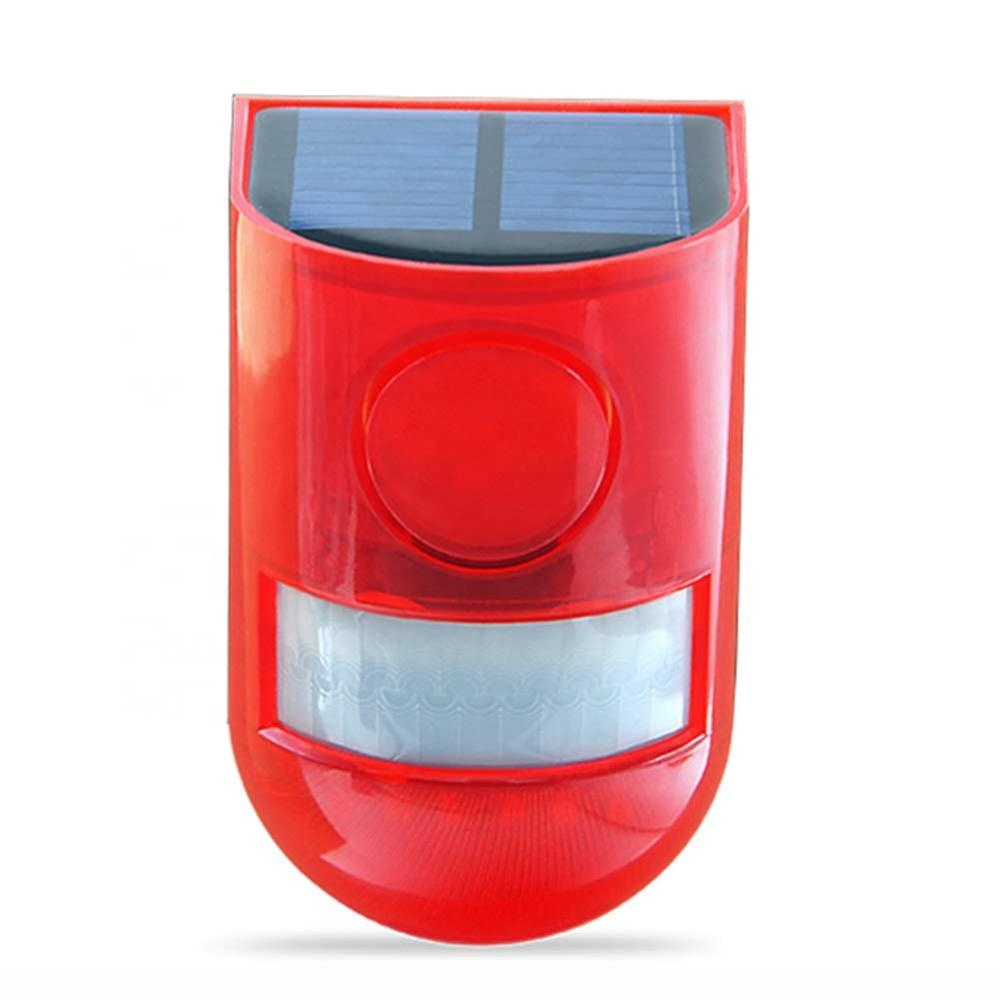 Outdoor Farm Solar Powered Sound Strobe Lights Motion Sensor Security Alarm 6LED Light Loud Siren