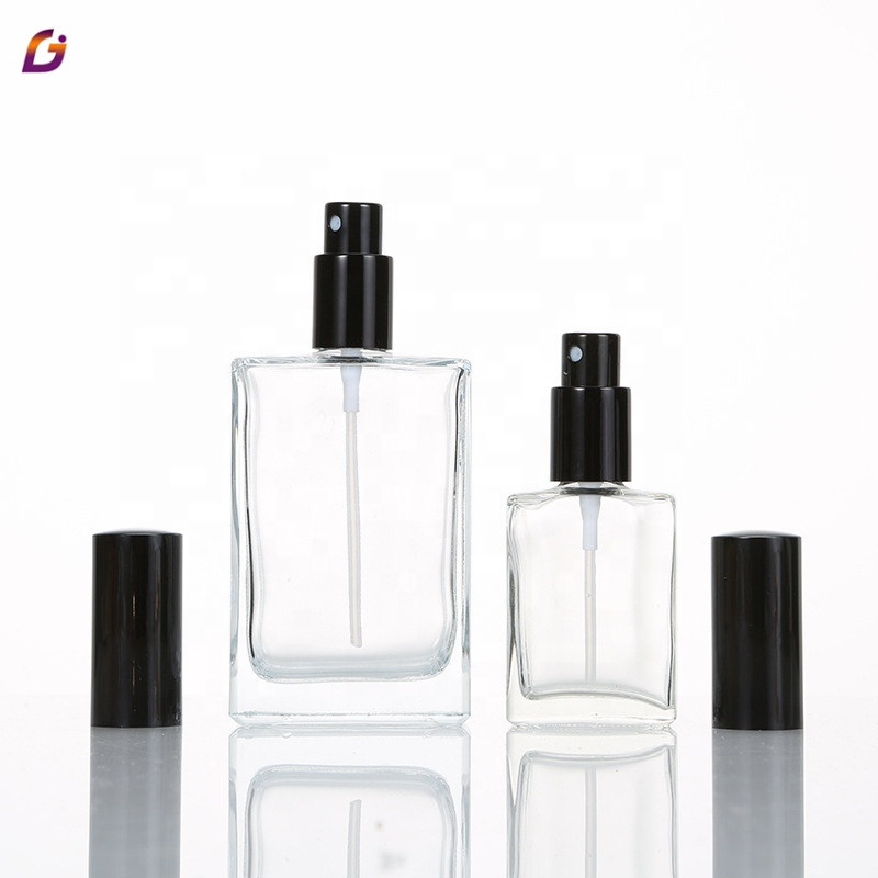 5ml 10ml 20ml 30ml 50ml 100ml 1/3oz 1oz spray de perfume botella de vidrio de 50ml de perfume de vidrio cuadrado botellas de spray