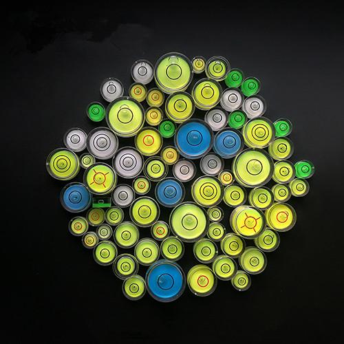 De plástico acrílico mini nivel de burbuja a nivel Circular nivel de burbuja