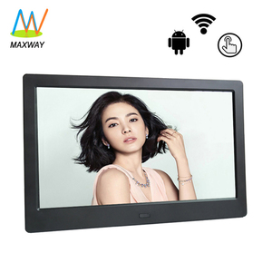 Promotional 10inch digital photo picture frames paper usb flash drive with wifi picasa with internal battery