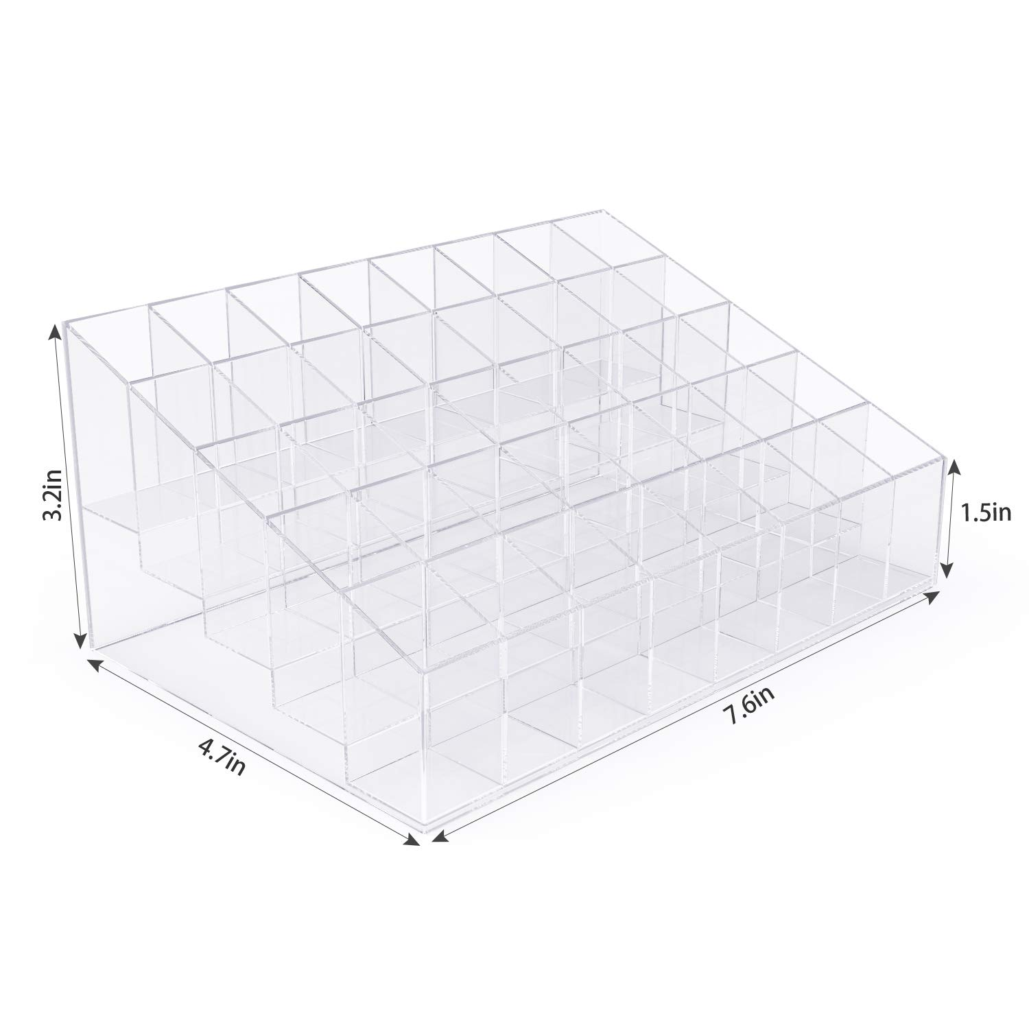 Clear Acrylic Lip Gloss Lipstick Holder Case Display Rack Holder 40 Slots Makeup Organizer