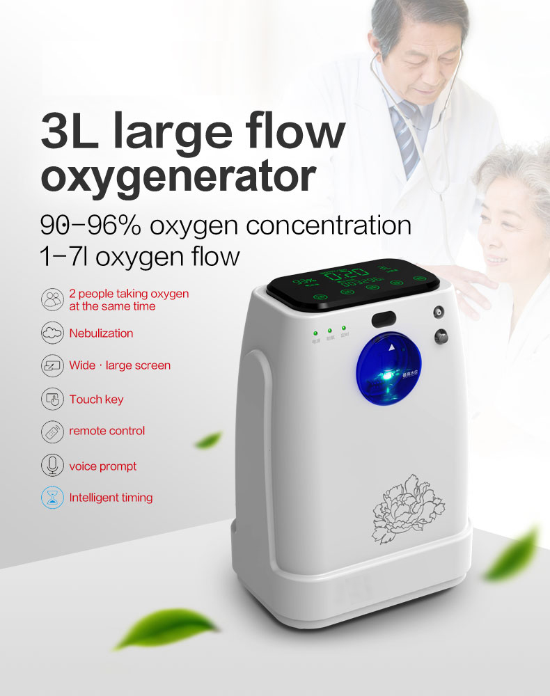 oxygen concentrator 3L portable oxygen generator for home use mslzy31 - KingCare | KingCare.net