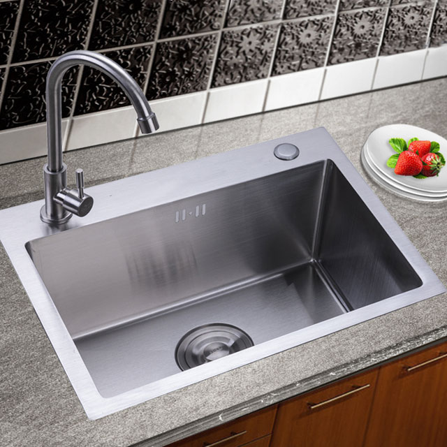 SD504021 High Grade Material stainless steel hand made inox kitchen sink