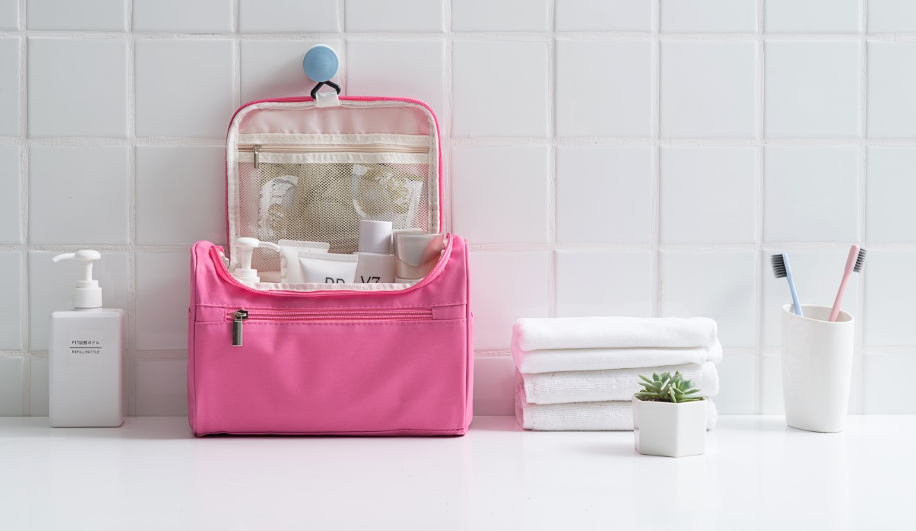 Toiletry Organizer Wash Bag Hanging Dopp Kit Travel for Bathroom Shower