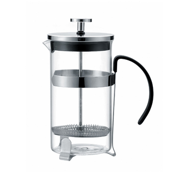 Eco-Friendly Factory Direct Supply 304 Stainless Steel Heat Resistant Kettle Metal Portable French Press Glass Coffee Maker