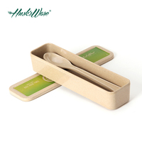 Environmentally Friendly Rice Husk Cutlery Set with Chopsticks Spoon and Fork