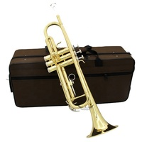 Roffee Musical Brasswind Instrument Gold Lacquer Bb Key Brass Trumpet