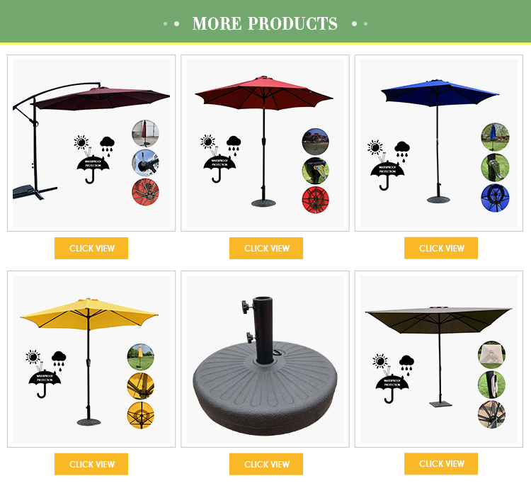 Открытый рынок, офсетный подвесной консольный водонепроницаемый зонт для патио