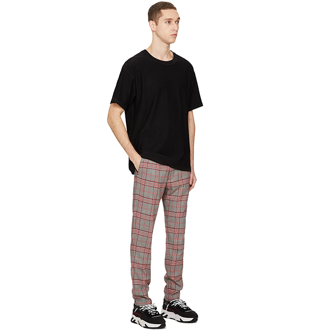 OEM strada plaid del ragazzo pantaloni di sudore private label pantaloni casual mens