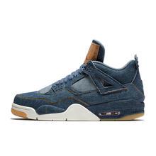 Nike Air Jordan 4 Denim AJ4 дышащие мужские Новое поступление Аутентичные баскетбольные кроссовки спортивные кроссовки()