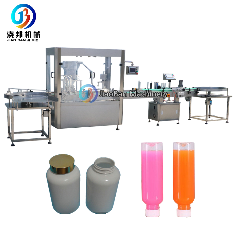 JB-YG4 Small bottle water filling capping machine apple juice/ beverage filling production line