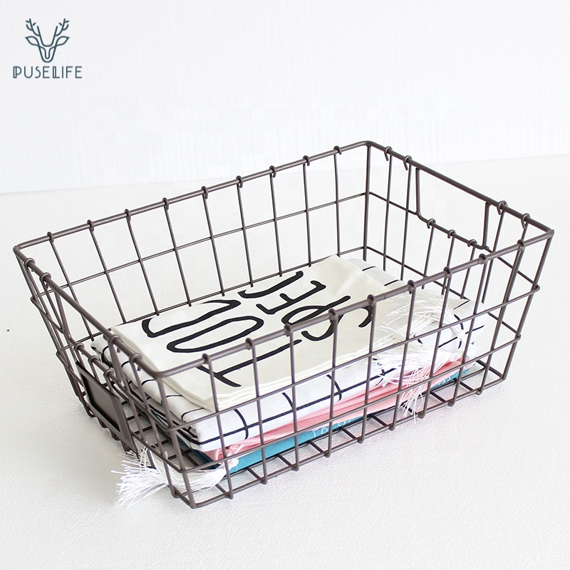 new products sundries Home Office Desk Sturdy Kitchen Pantry Freezer <strong>basket</strong> <strong>bathroom</strong> wire <strong>basket</strong> wire <strong>storage</strong> <strong>basket</strong>