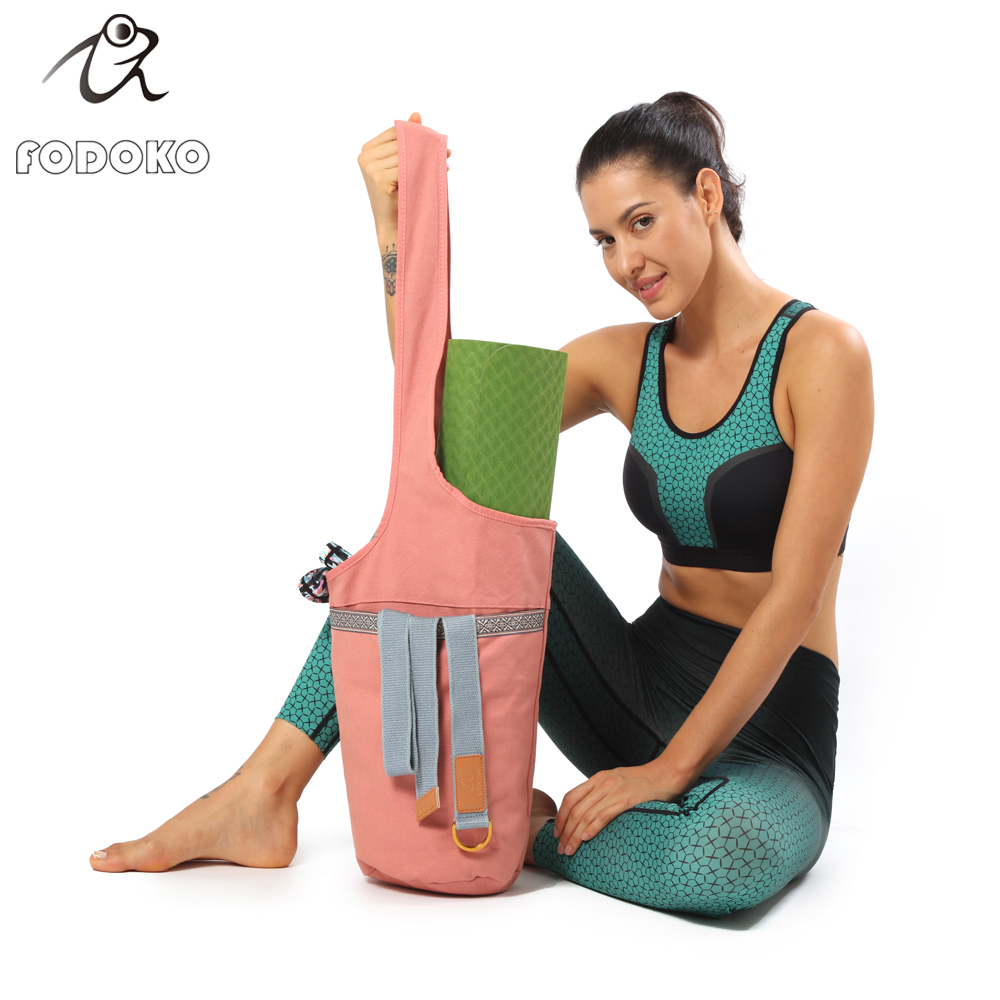 Brand New Travelling Sporting Customized Canvas Eco Friendly Travel Yoga Kit Carry Bag