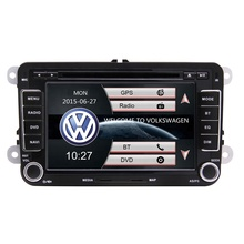 Dubbel Din 7 Inch Touch Screen <span class=keywords><strong>Auto</strong></span> Dvd <span class=keywords><strong>Speler</strong></span> Met Gps Bluetooth Ondersteuning Fm Am Radio Usb Tf Voor Vw amarok Beetle Polo Golf Eos