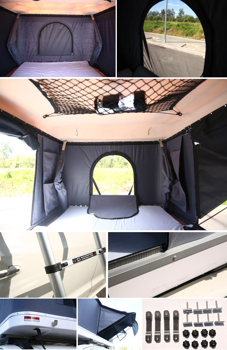 4WD SUV Off Ground Camping Car Hard Shell Roof top Tent For Sale detail