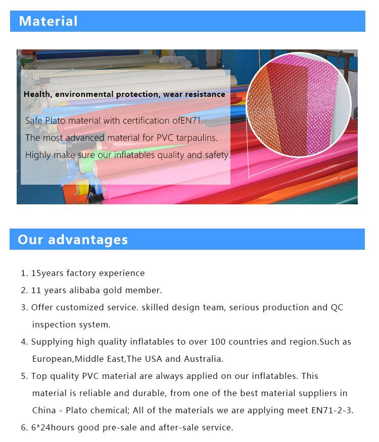 Corrediça de água inflável parque comercial para venda/esportes/jogo colorido