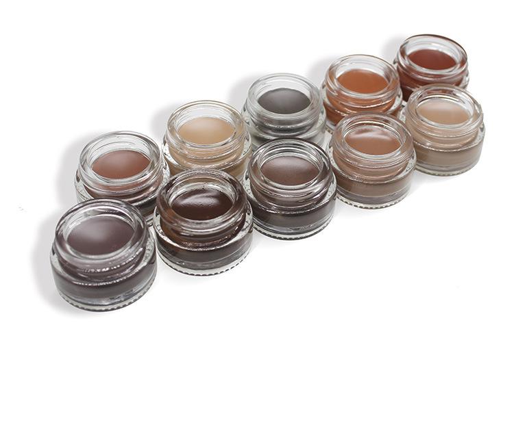 Wholesale eye brow Gel Waterproof 11 Color Private Label Eyebrow Pomade