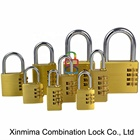 Numeric wheels turn tumblers rust-resistant zinc plating combination padlock secure fences doors gates lockers lock