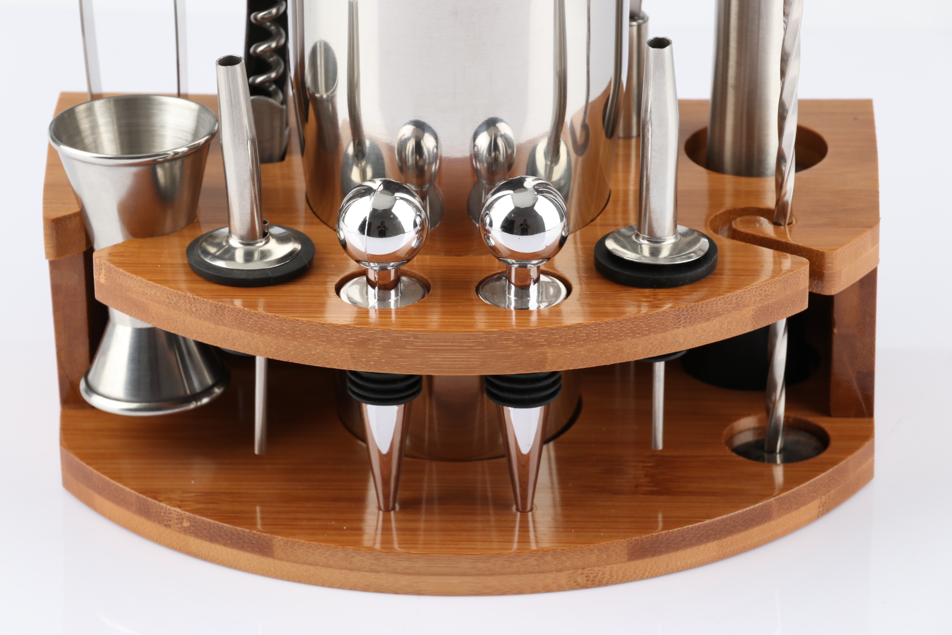 Premium Cocktail Shaker Bar Tools Set Brushed Stainless Steel Bartender Kit with All Bar Accessories
