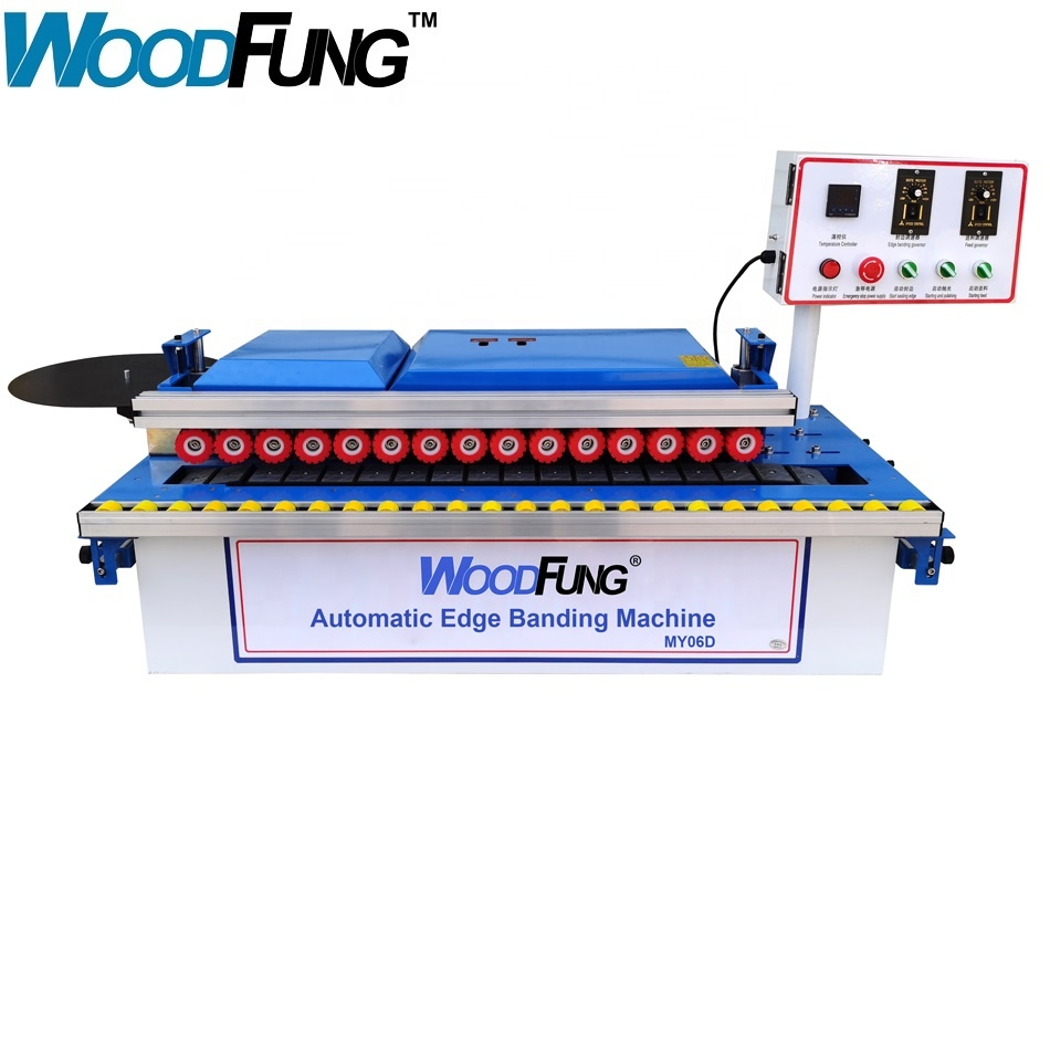 MY06D Furniture portable pvc melamine automatic wood manual edge banding machine
