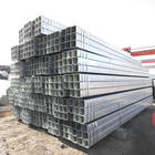 DIN 10219 St37 St52 40x60 galvanized rectangular steel pipe hot dipped galvanized square and rectangular tube structure shs rhs
