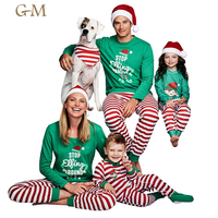 Wholesale kids clothes matching outfits 2019 family christmas pajamas
